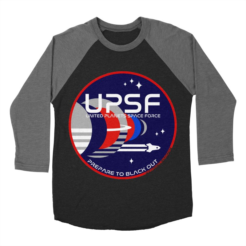 United Planets Space Force Logo Men's Baseball Triblend Longsleeve T-Shirt by Finish It! Podcast Merchzone