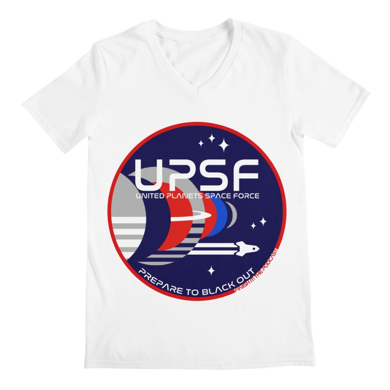 United Planets Space Force Logo Men's V-Neck by Finish It! Podcast Merchzone