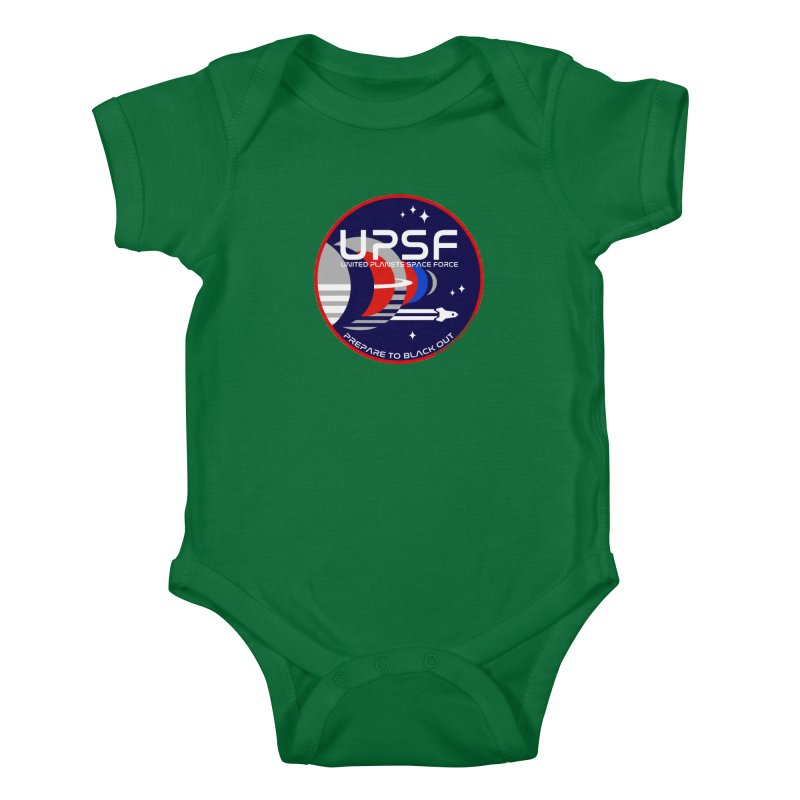 United Planets Space Force Logo Kids Baby Bodysuit by Finish It! Podcast Merchzone