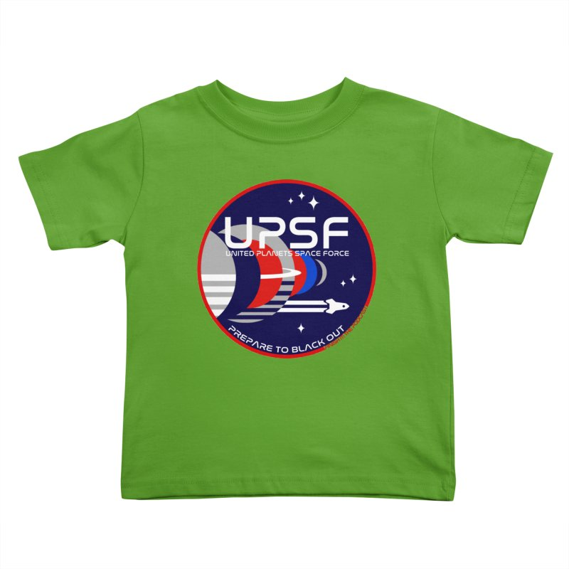 United Planets Space Force Logo Kids Toddler T-Shirt by Finish It! Podcast Merchzone