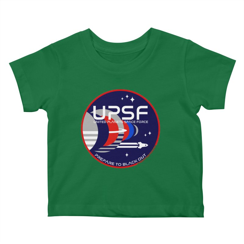 United Planets Space Force Logo Kids Baby T-Shirt by Finish It! Podcast Merchzone