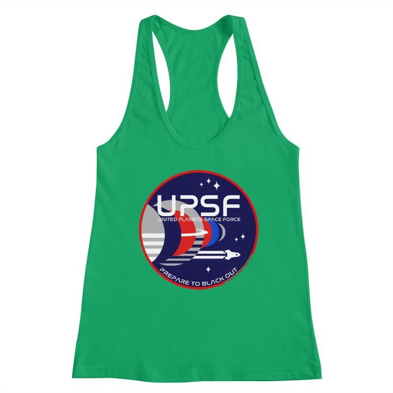 United Planets Space Force Logo Women's Tank by Finish It! Podcast Merchzone