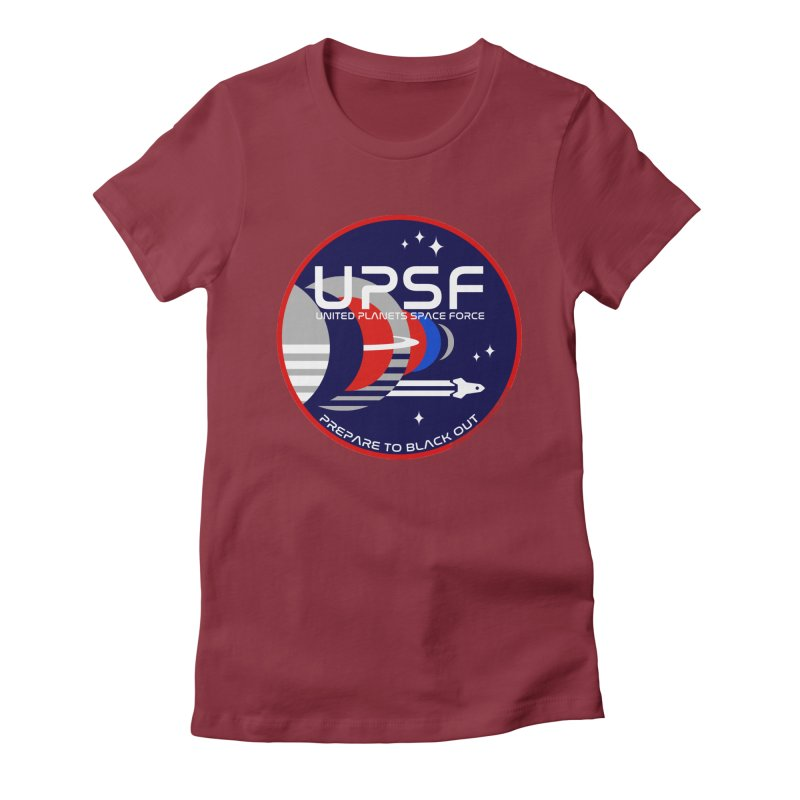 United Planets Space Force Logo Women's T-Shirt by Finish It! Podcast Merchzone