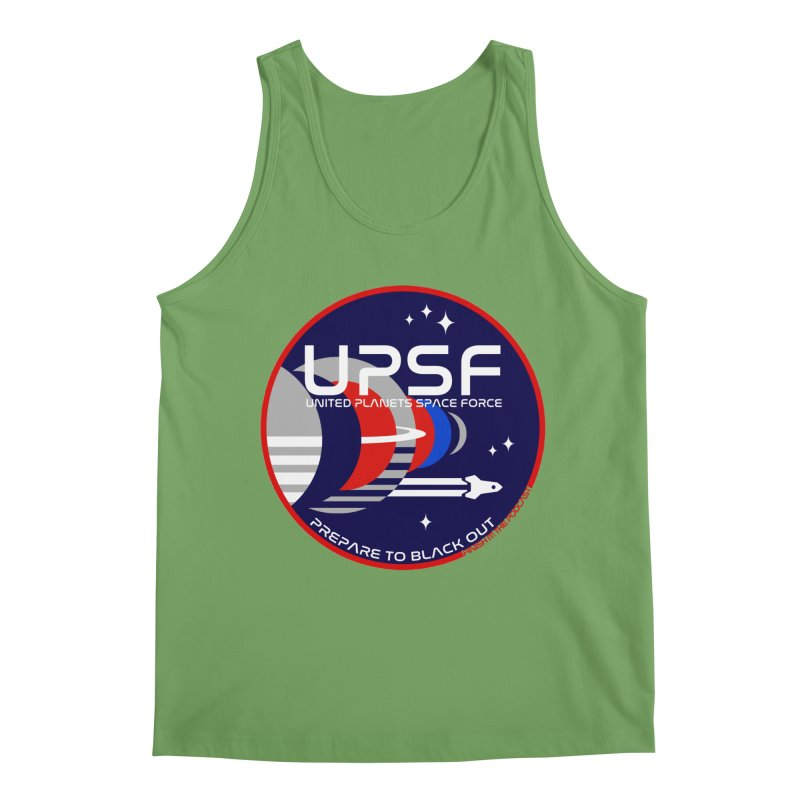 United Planets Space Force Logo Men's Tank by Finish It! Podcast Merchzone