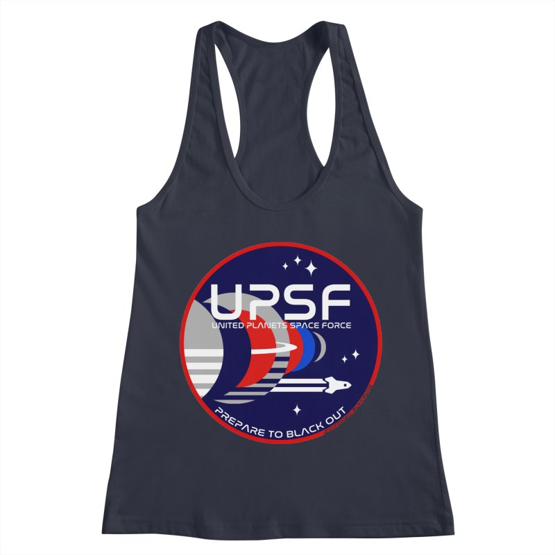 United Planets Space Force Logo Women's Racerback Tank by Finish It! Podcast Merchzone