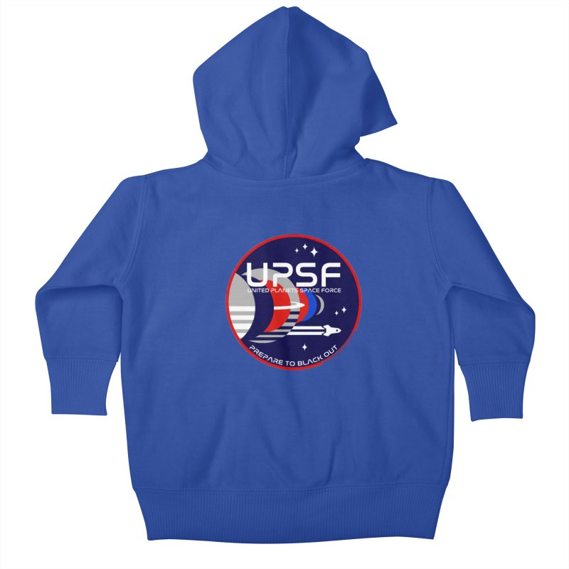 United Planets Space Force Logo Kids Baby Zip-Up Hoody by Finish It! Podcast Merchzone