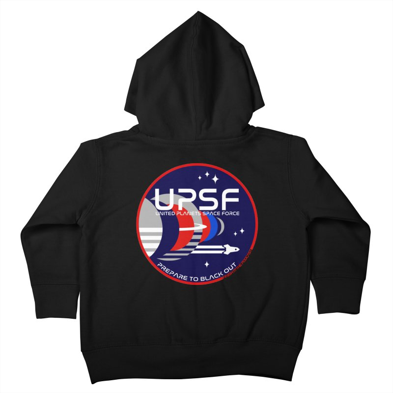 United Planets Space Force Logo Kids Toddler Zip-Up Hoody by Finish It! Podcast Merchzone