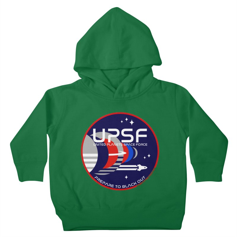 United Planets Space Force Logo Kids Toddler Pullover Hoody by Finish It! Podcast Merchzone