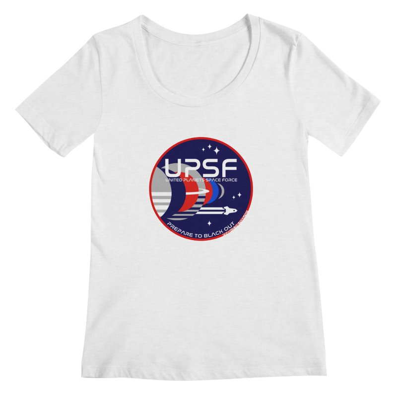 United Planets Space Force Logo Women's Regular Scoop Neck by Finish It! Podcast Merchzone