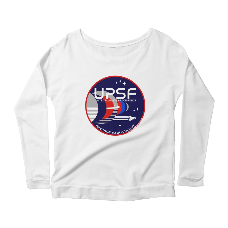 United Planets Space Force Logo Women's Scoop Neck Longsleeve T-Shirt by Finish It! Podcast Merchzone