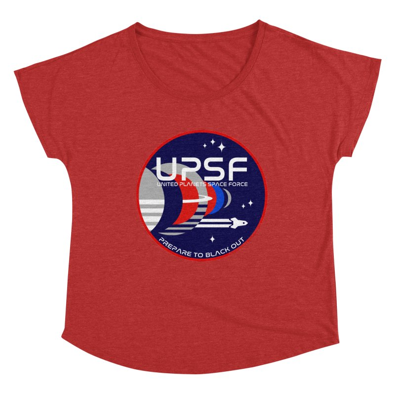 United Planets Space Force Logo Women's Dolman Scoop Neck by Finish It! Podcast Merchzone