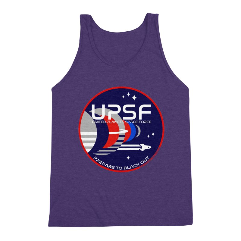 United Planets Space Force Logo Men's Triblend Tank by Finish It! Podcast Merchzone