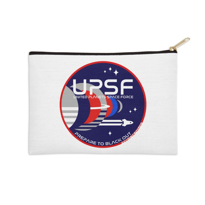 United Planets Space Force Logo Accessories Zip Pouch by Finish It! Podcast Merchzone