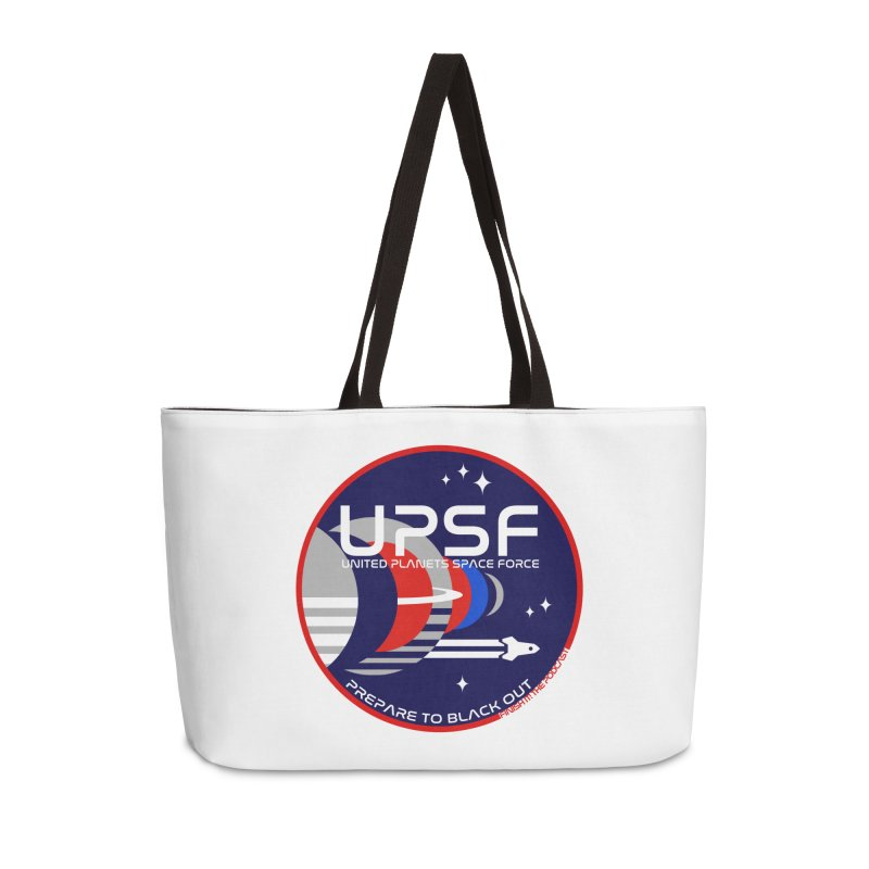 United Planets Space Force Logo Accessories Weekender Bag Bag by Finish It! Podcast Merchzone