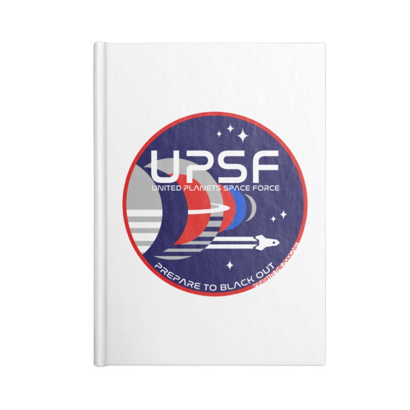 United Planets Space Force Logo Accessories Lined Journal Notebook by Finish It! Podcast Merchzone