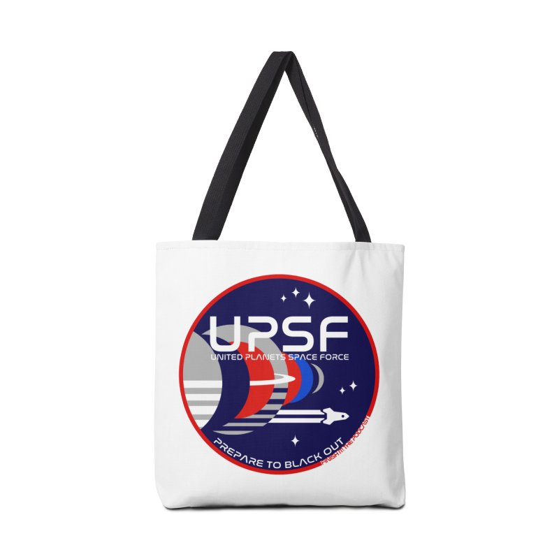 United Planets Space Force Logo Accessories Tote Bag Bag by Finish It! Podcast Merchzone