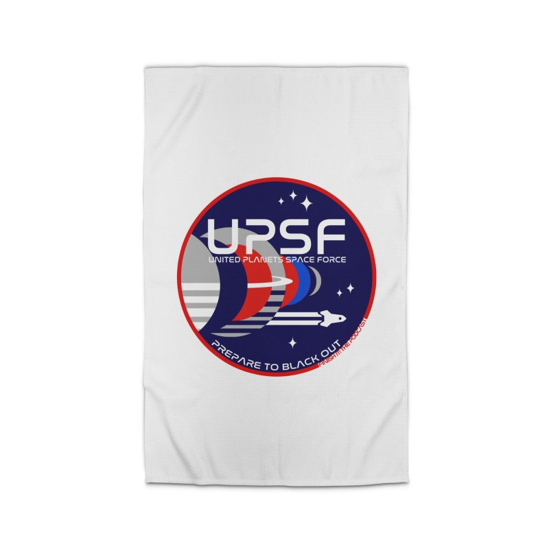 United Planets Space Force Logo Home Rug by Finish It! Podcast Merchzone