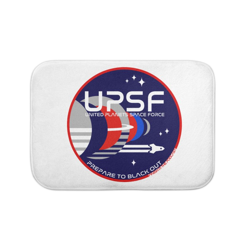 United Planets Space Force Logo Home Bath Mat by Finish It! Podcast Merchzone