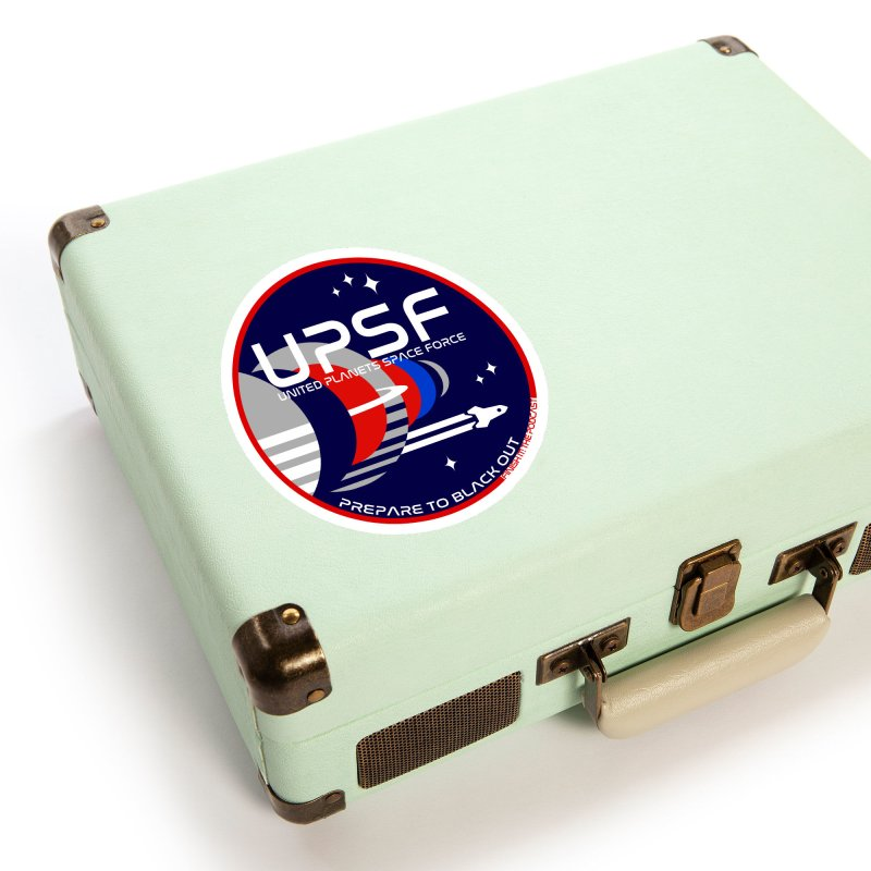 United Planets Space Force Logo Accessories Sticker by Finish It! Podcast Merchzone