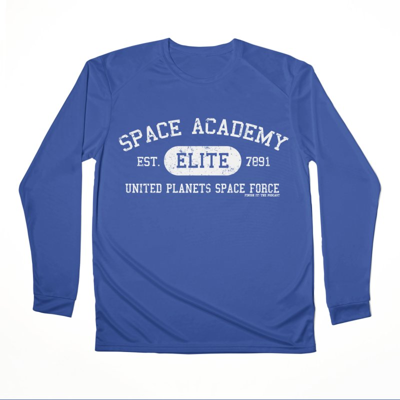 Space Academy Collegiate (White) Men's Performance Longsleeve T-Shirt by Finish It! Podcast Merchzone