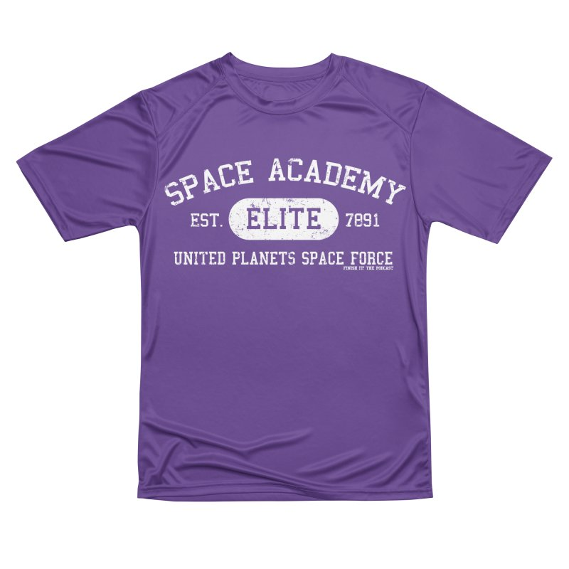 Space Academy Collegiate (White) Men's Performance T-Shirt by Finish It! Podcast Merchzone