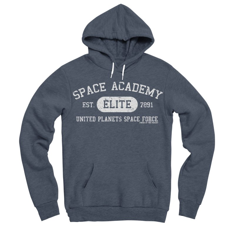 Space Academy Collegiate (White) Men's Sponge Fleece Pullover Hoody by Finish It! Podcast Merchzone