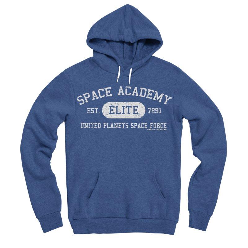 Space Academy Collegiate (White) Men's Sponge Fleece Pullover Hoody by Finish It! Podcast Merchzone