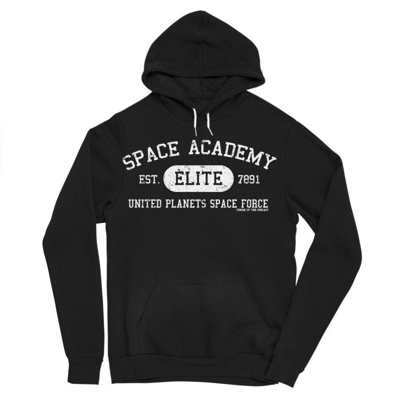 Space Academy Collegiate (White) Women's Sponge Fleece Pullover Hoody by Finish It! Podcast Merchzone