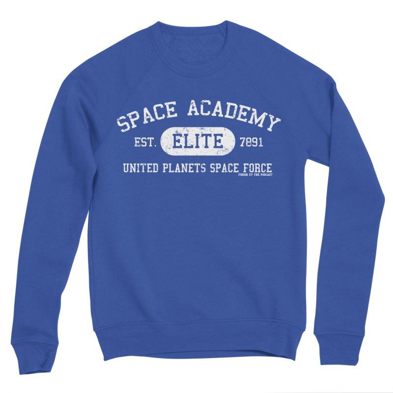Space Academy Collegiate (White) Men's Sweatshirt by Finish It! Podcast Merchzone