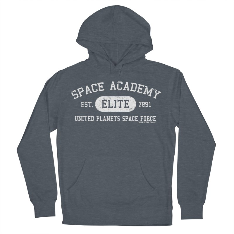 Space Academy Collegiate (White) Men's French Terry Pullover Hoody by Finish It! Podcast Merchzone