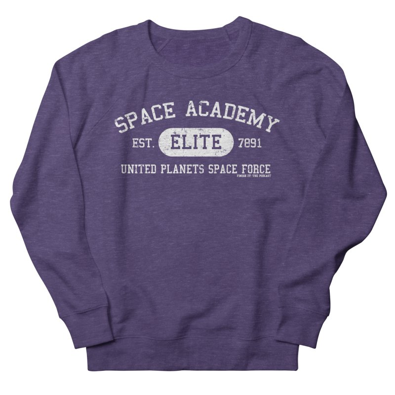 Space Academy Collegiate (White) Men's French Terry Sweatshirt by Finish It! Podcast Merchzone