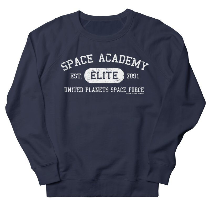 Space Academy Collegiate (White) Men's Sweatshirt by Finish It! Podcast Merchzone
