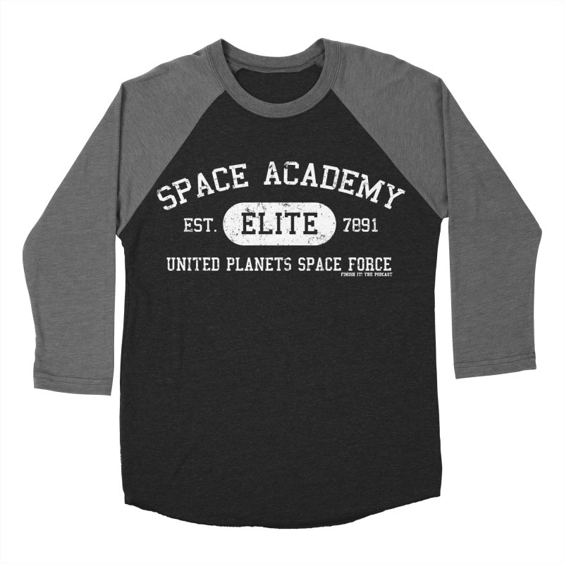 Space Academy Collegiate (White) Women's Baseball Triblend Longsleeve T-Shirt by Finish It! Podcast Merchzone