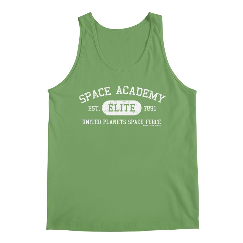 Space Academy Collegiate (White) Men's Tank by Finish It! Podcast Merchzone