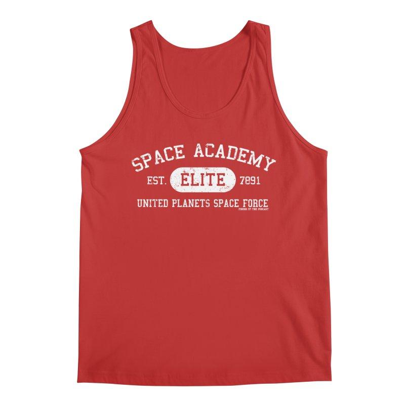 Space Academy Collegiate (White) Men's Regular Tank by Finish It! Podcast Merchzone