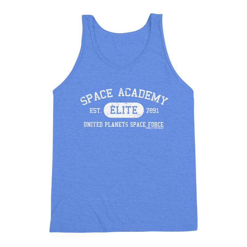 Space Academy Collegiate (White) Men's Triblend Tank by Finish It! Podcast Merchzone