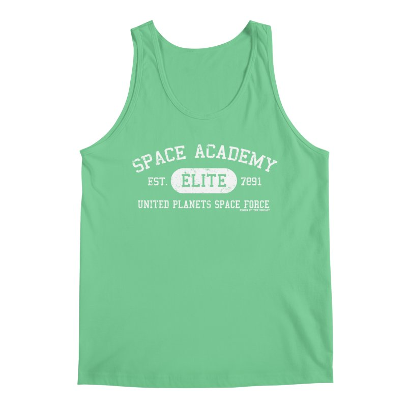 Space Academy Collegiate (White) Men's Regular Tank by Finish It! Podcast Merchzone