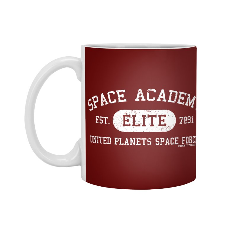 Space Academy Collegiate (White) Accessories Standard Mug by Finish It! Podcast Merchzone
