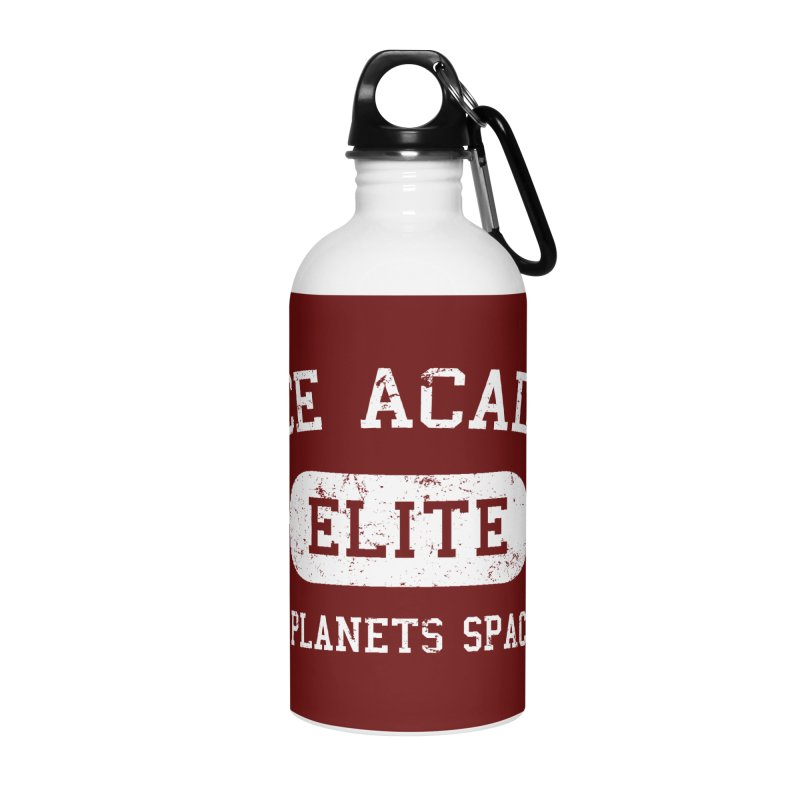 Space Academy Collegiate (White) Accessories Water Bottle by Finish It! Podcast Merchzone