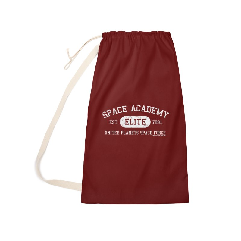 Space Academy Collegiate (White) Accessories Laundry Bag Bag by Finish It! Podcast Merchzone