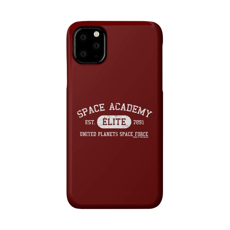 Space Academy Collegiate (White) Accessories Phone Case by Finish It! Podcast Merchzone