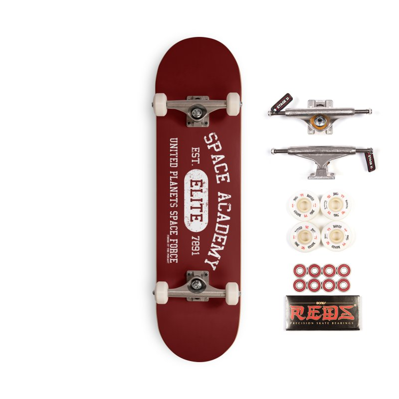 Space Academy Collegiate (White) Accessories Complete - Pro Skateboard by Finish It! Podcast Merchzone