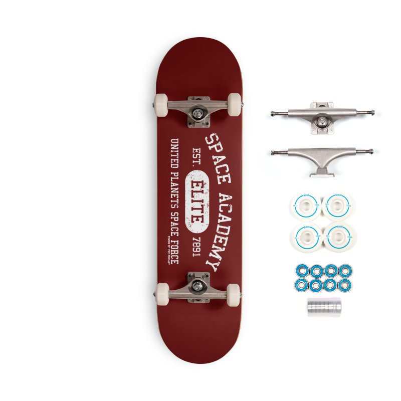 Space Academy Collegiate (White) Accessories Complete - Basic Skateboard by Finish It! Podcast Merchzone