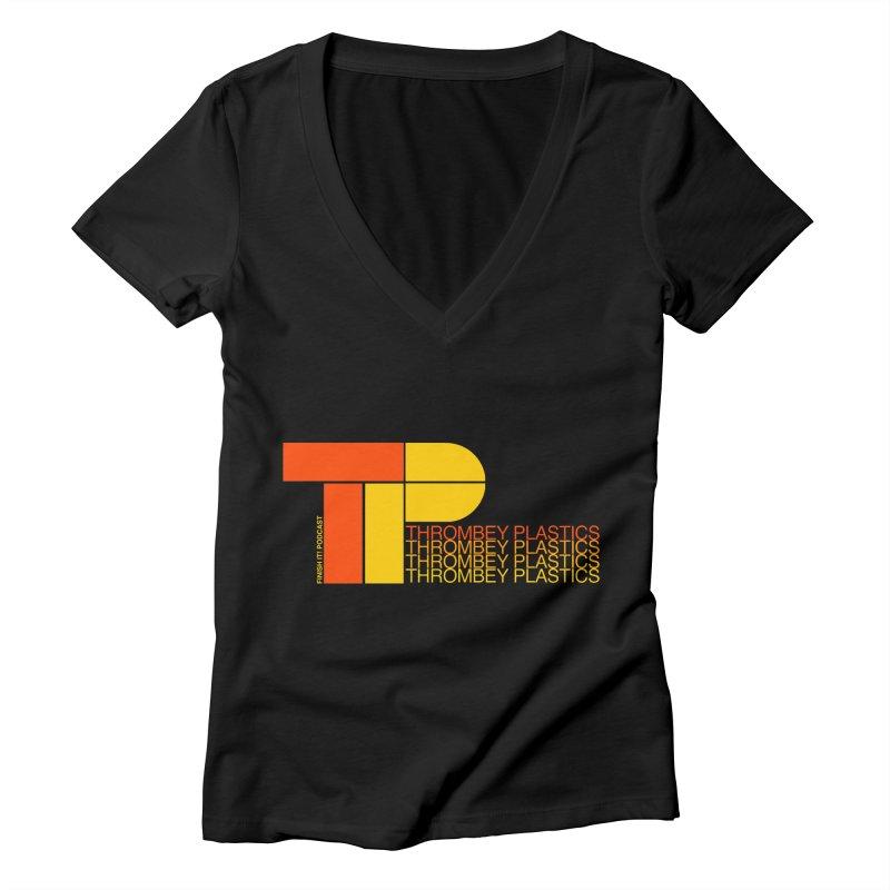 Thrombey Plastics Women's V-Neck by Finish It! Podcast Merchzone