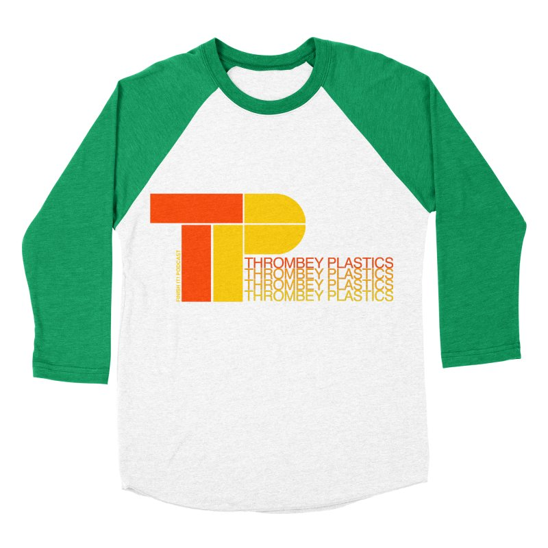 Thrombey Plastics Women's Baseball Triblend Longsleeve T-Shirt by Finish It! Podcast Merchzone