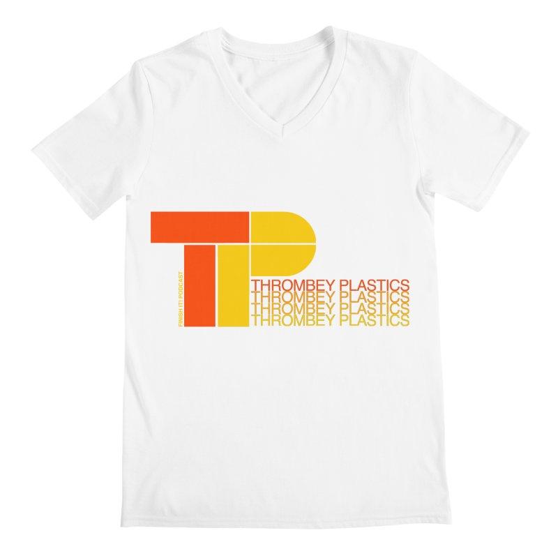 Thrombey Plastics Men's V-Neck by Finish It! Podcast Merchzone