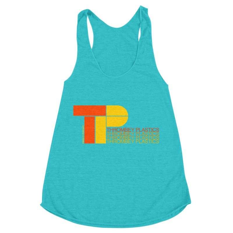 Thrombey Plastics Women's Racerback Triblend Tank by Finish It! Podcast Merchzone