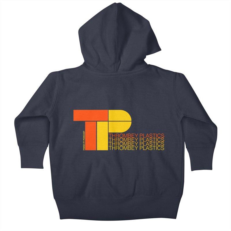 Thrombey Plastics Kids Baby Zip-Up Hoody by Finish It! Podcast Merchzone