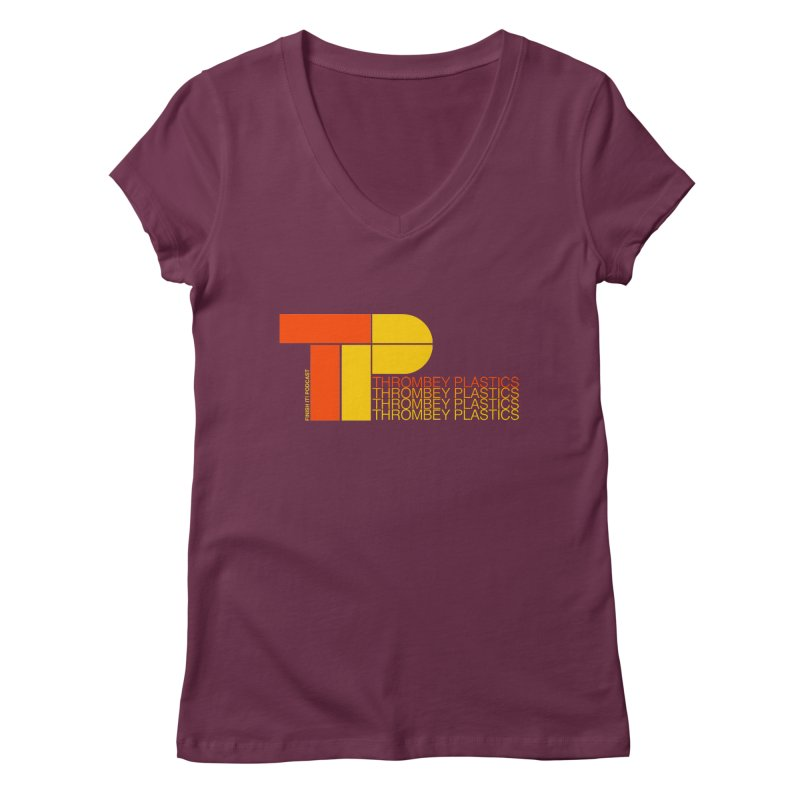 Thrombey Plastics Women's Regular V-Neck by Finish It! Podcast Merchzone