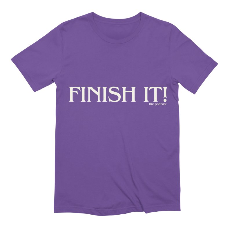 Finish It! Podcast Logo Men's Extra Soft T-Shirt by Finish It! Podcast Merchzone